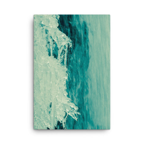 Ice and Falls Nature Canvas Wall Art Prints