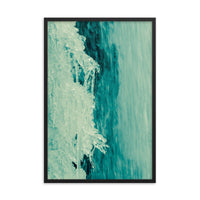 Ice and Falls Nature Photo Framed Wall Art Print  - PIPAFINEART