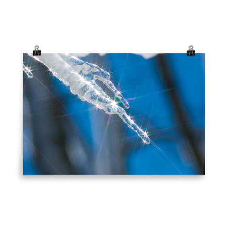 Icicle Nature Photo Loose Unframed Wall Art Prints