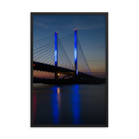 Indian River Bridge 2 Urban Landscape Photo Framed Wall Art Print