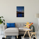 Indian River Bridge 2 Night Photo Fine Art Canvas & Unframed Wall Art Prints - PIPAFINEART
