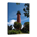 Jupiter Lighthouse 2 Color Coastal Landscape Photo Fine Art Canvas & Unframed Wall Art Prints - PIPAFINEART
