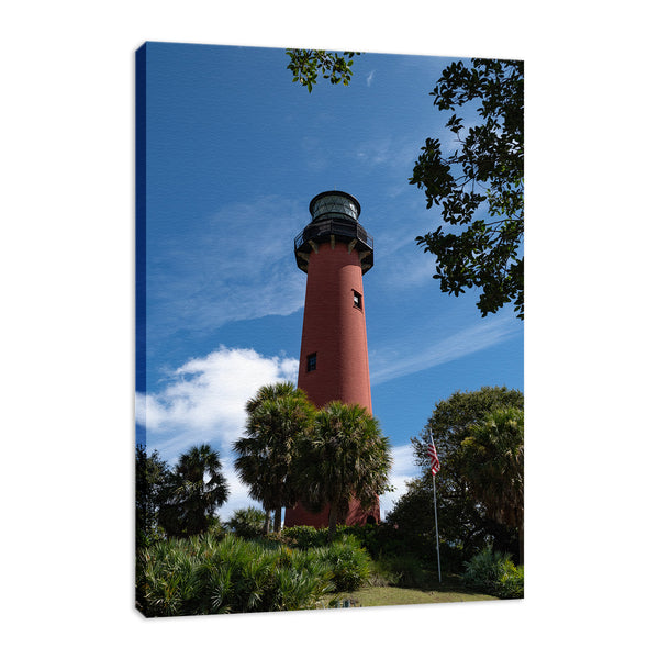 Jupiter Lighthouse 2 Color Coastal Landscape Photo Fine Art Canvas Wall Art Prints  - PIPAFINEART