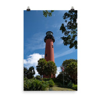 Jupiter Lighthouse 2 Color Landscape Photo Loose Wall Art Print  - PIPAFINEART