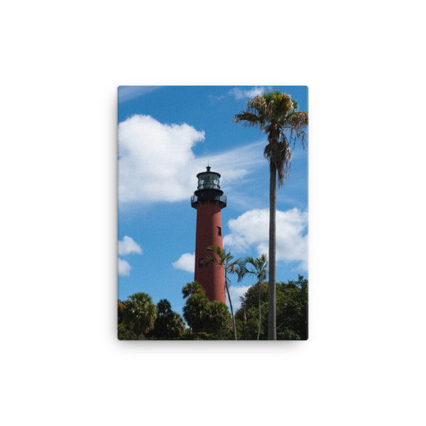 Jupiter Lighthouse Color Canvas Coastal / Beach / Shore / Seascape Landscape Scene - Living Room / Bedroom / Dining Room Wall Art Print