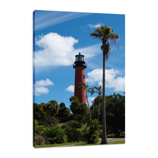 Jupiter Lighthouse Color Coastal Landscape Photo Fine Art Canvas & Unframed Wall Art Prints - PIPAFINEART