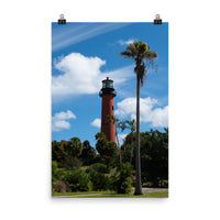 Jupiter Lighthouse Color Landscape Photo Loose Wall Art Print  - PIPAFINEART