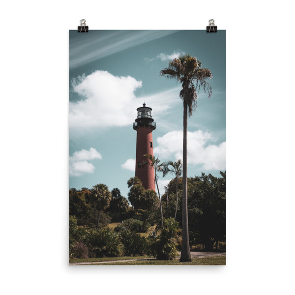 Jupiter Lighthouse Colorized Landscape Photo Loose Wall Art Print  - PIPAFINEART