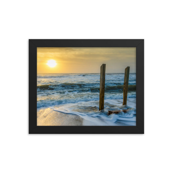 Kissed by the Sea Framed Photo Paper Coastal / Beach / Shore / Seascape Landscape Scene - Living Room / Bedroom / Dining Room Wall Art Print