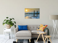 "24"" x 36"" Kissed by the Sea Photo Fine Art Canvas Coastal / Beach / Shore / Seascape Landscape Scene - Living Room / Bedroom / Dining Room Wall Art Print"