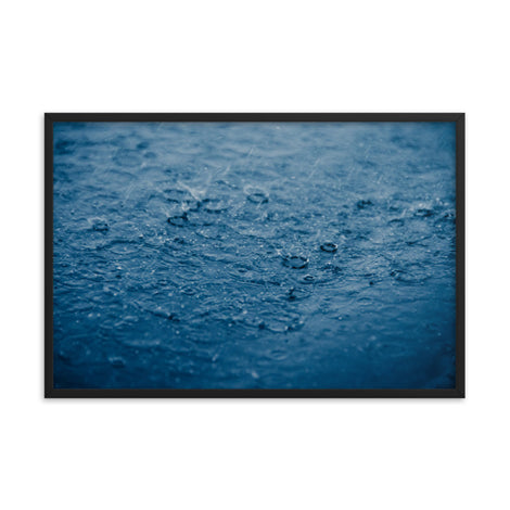 Let it Rain Nature Photo Framed Wall Art Print