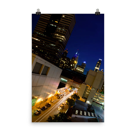 Light Trails In Philly Urban Landscape Loose Unframed Wall Art Prints