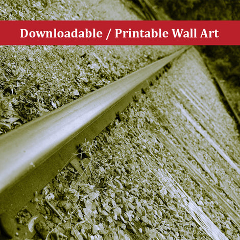 Lonely Rails Landscape Photo DIY Wall Decor Instant Download Print - Printable