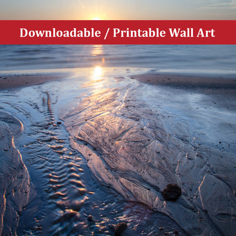 Low Tide Ravine Landscape Photo DIY Wall Decor Instant Download Print - Printable