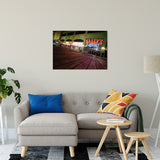 "Low on the Boards Night Photo Fine Art Canvas Wall Art Prints 24"" x 36"" / Fine Art Canvas - PIPAFINEART"