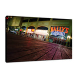 Low on the Boards Night Photo Fine Art Canvas Wall Art Prints  - PIPAFINEART