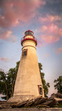 Marblehead Lighthouse at Sunset From the Shore Landscape Photograph Wall Art & Fine Art Prints