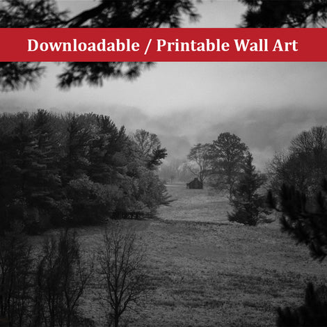 Mist of Valley Forge Landscape Photo DIY Wall Decor Instant Download Print - Printable