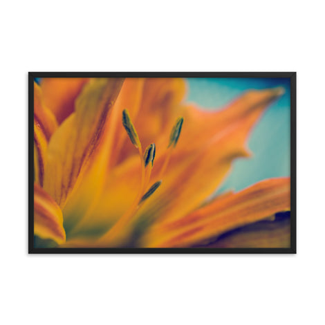 Mystical Tiger Lily Floral Nature Photo Framed Wall Art Print