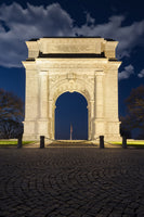 Valley Forge Memorial Arch Night Photo Fine Art Canvas Wall Art Prints  - PIPAFINEART