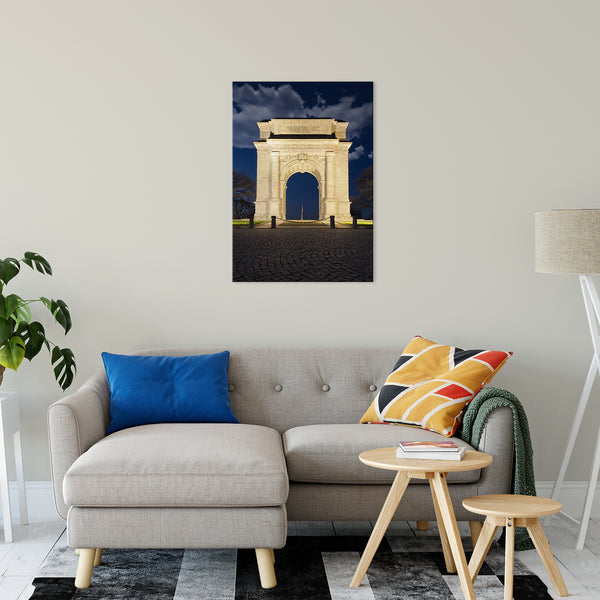 "Valley Forge Memorial Arch Night Photo Fine Art Canvas Wall Art Prints 24"" x 36"" - PIPAFINEART"
