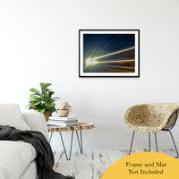 "Night Train Abstract Photo Fine Art Canvas & Unframed Wall Art Prints 24"" x 36"" / Classic Paper - Unframed - PIPAFINEART"