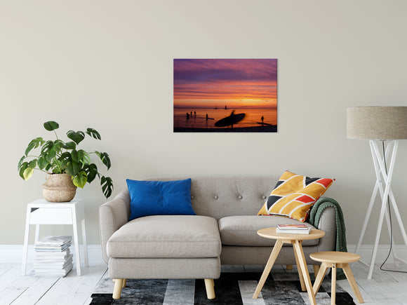 Beach Art Wall Decor Landscape Photography - Paddle Surfer in the Sunset Prints - Fine Art Canvas - Home Decor Unframed Wall Art Prints