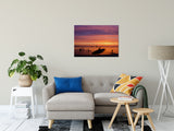 "Paddle Surfer in the Sunset Coastal Landscape Fine Art Canvas Wall Art Prints 24"" x 36"" - PIPAFINEART"