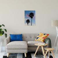 "Palm Tree Silhouettes on Blue Sky Nature / Botanical Photo Fine Art Canvas Wall Art Prints 20"" x 24"" / Fine Art Canvas - PIPAFINEART"