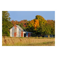 Patriotic Barn in Field Rural Landscape Photo Fine Art Canvas Wall Art Prints  - PIPAFINEART