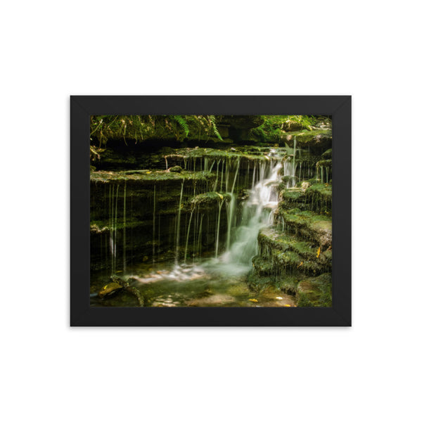 Pixley Waterfall 1 Landscape Framed Photo Paper Wall Art Prints  - PIPAFINEART