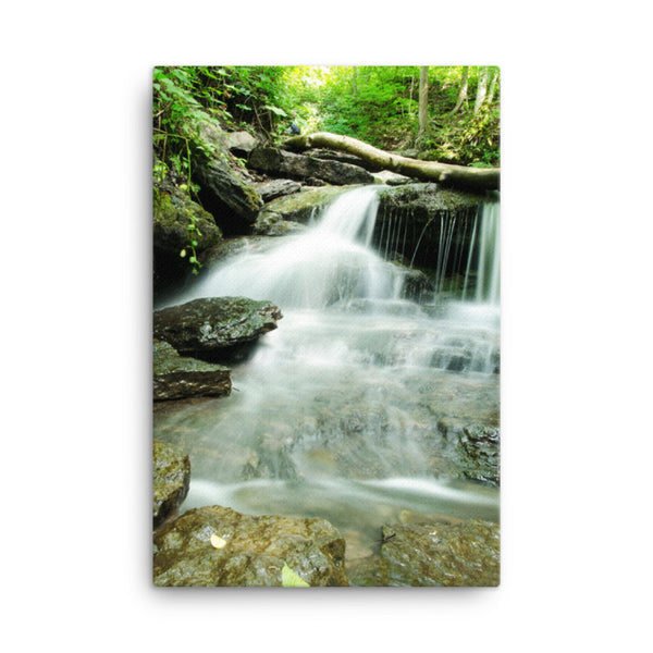 Pixley Waterfalls 2 Rural Landscape Canvas Wall Art Prints  - PIPAFINEART