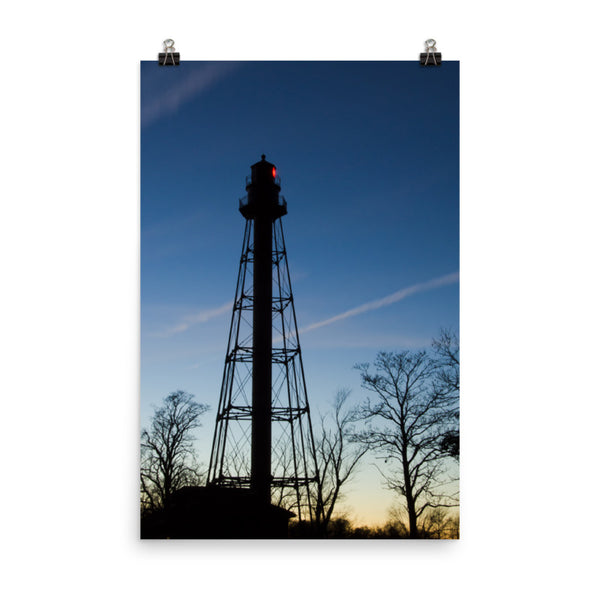 Reedy Point Rear Lighthouse Silhouette Urban Landscape Loose Unframed Wall Art Prints  - PIPAFINEART