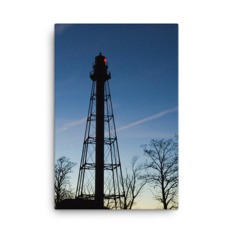 Reedy Point Rear Lighthouse Silhouette Urban Landscape Traditional Canvas Wall Art Print