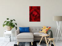 "Royal Red Rose Nature / Floral Photo Fine Art Canvas Wall Art Prints 24"" x 36"" / Fine Art Canvas - PIPAFINEART"