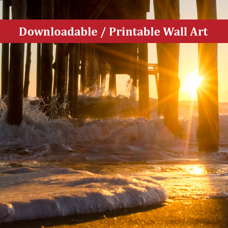 Seafoam In The Sunlight Landscape Photo DIY Wall Decor Instant Download Print - Printable