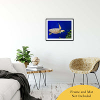 "Sea Turtle 1 Animal / Wildlife Photograph Fine Art Canvas & Unframed Wall Art Prints 20"" x 30"" / Classic Paper - Unframed - PIPAFINEART"