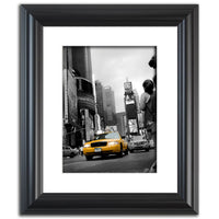 Shining Taxi Cab - Black and White Abstract Photo Fine Art Canvas & Unframed Wall Art Prints  - PIPAFINEART