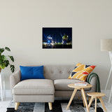 "Shining Cranes Night Photo Fine Art Canvas Wall Art Prints 20"" x 30"" / Fine Art Canvas - PIPAFINEART"