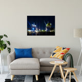 "Shining Cranes Night Photo Fine Art Canvas Wall Art Prints 24"" x 36"" / Fine Art Canvas - PIPAFINEART"