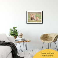 "Siblings Animal / Wildlife Photograph Fine Art Canvas & Unframed Wall Art Prints 20"" x 30"" / Classic Paper - Unframed - PIPAFINEART"