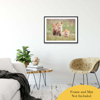 "Siblings Animal / Wildlife Photograph Fine Art Canvas & Unframed Wall Art Prints 24"" x 36"" / Classic Paper - Unframed - PIPAFINEART"