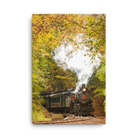 Steam Train with Autumn Foliage Rural Landscape Canvas Wall Art Prints  - PIPAFINEART