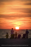 Summer Spectators Coastal Sunset Landscape Fine Art Canvas Prints  - PIPAFINEART