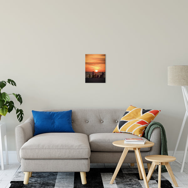 "Summer Spectators Coastal Sunset Landscape Fine Art Canvas Prints 11"" x 14"" / Canvas Fine Art - PIPAFINEART"