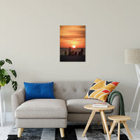"Summer Spectators Coastal Sunset Landscape Fine Art Canvas Prints 20"" x 24"" / Canvas Fine Art - PIPAFINEART"