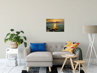 "Sun Ray on the Water Coastal Landscape Photograph Fine Art Canvas Wall Art Prints 20"" x 24"" / Canvas Fine Art - PIPAFINEART"
