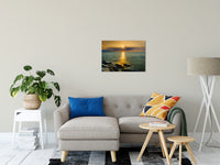 "Sun Ray on the Water Coastal Landscape Photograph Fine Art Canvas Wall Art Prints 20"" x 30"" / Canvas Fine Art - PIPAFINEART"