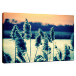 Sunset on the Marsh with Grasses Movement Fine Art Canvas Wall Art Prints  - PIPAFINEART