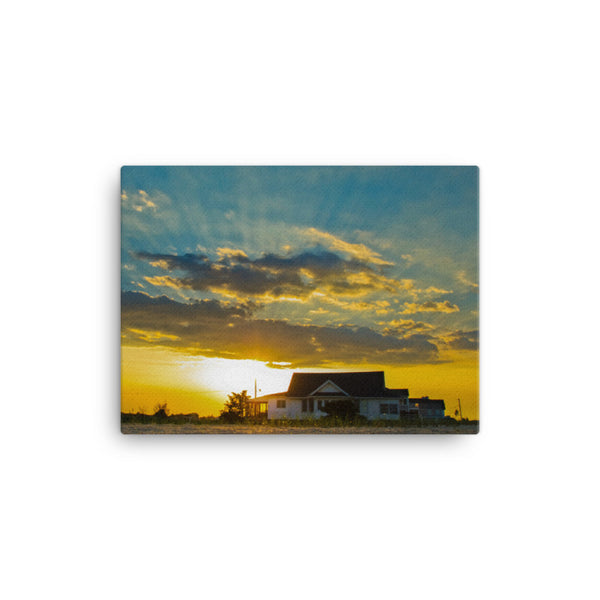 Sunset at Bowers Coastal Landscape Canvas Wall Art Prints
